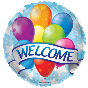 "Foilballoon round  ,  18""  -  bv welcome banner & balloons"