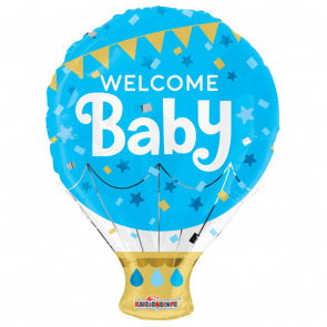 "Foilballoon shape , 18"" - pr welcome baby blue"