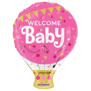 "Foilballoon shape , 18"" -  pr welcome baby pink"