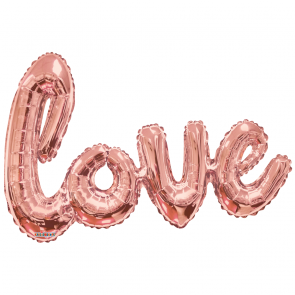 "Foilballoon XL script, 36"" - love rose gold"