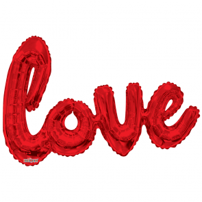 "Foilballoon XL script, 36"" - love red"