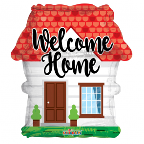 "Foilballoon shape , 18"" - welcome home house"