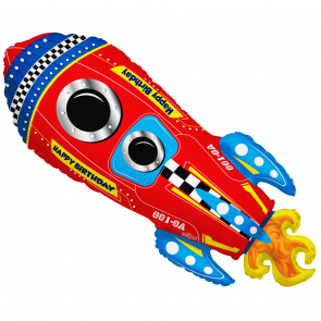 "Foilballoon shape , 28"" - rocket"
