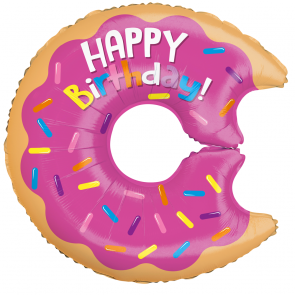 "Foilballoon shape , 28"" - birthday donut"