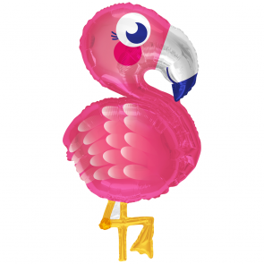 "Foilballoon shape , 28"" - flamingo"