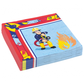 20 Two-ply Paper Napkins 33x33cm - Fireman Sam