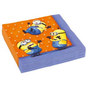 16 Two-ply Paper Napkins 33x33cm - Minions