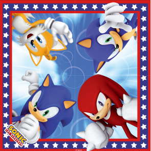 16 Two-ply Paper Napkins 33x33cm - Sonic