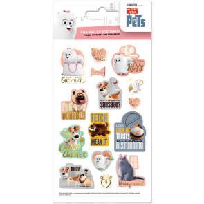 Small Foil Stickers - Secret life of pets - Metro