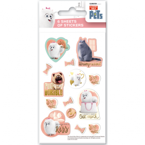 Party Stickers - 6 sheets - Secret life of Pets