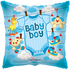 "Foilballoon square  ,  18""  -  sv baby boy baby clothes"