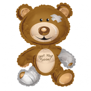 "Foilballoon shape  ,  36""  -  bear get well"