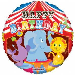 "Foilballoon round  ,  18""  -  birthday circus"