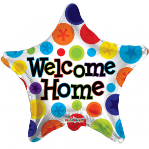 "Foilballoon star  ,  18""  -  welcome home star"