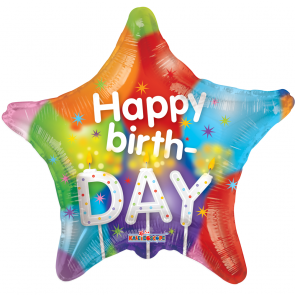 "Foilballoon star  ,  18""  -  sv hb candles"