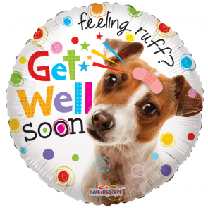 "Foilballoon round  ,  18""  -  sv get well dog"