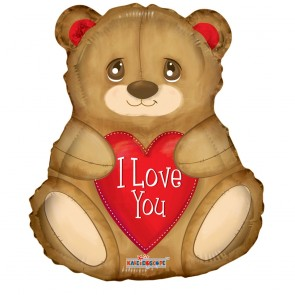 "Foilballoon shape , 18"" -  I love you bear"