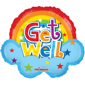 "Foilballoon shape  ,  18""  -  rainbow get well shape"