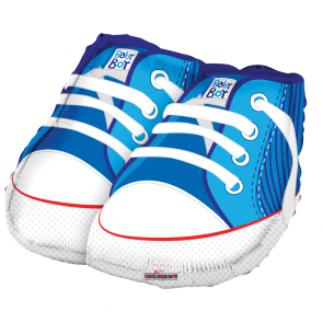 "Foilballoon shape  ,  18""  -  baby shoes blue shape"