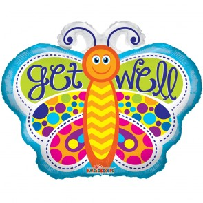 "Foilballoon shape , 18"" - get well butterfly"