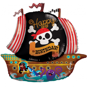 "Foilballoon shape  ,  36""  -  pirate boat shape"