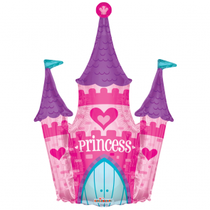 "Foilballoon shape  ,  36""  -  princess castle shape"
