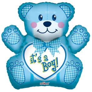 "Foilballoon shape , 28"" - baby boy bear"