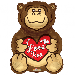 "Foilballoon shape  ,  28""  -  gorilla love you shape"