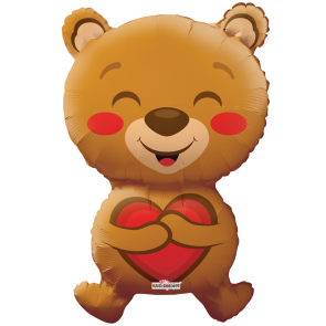 "Foilballoon shape  ,  28""  -  smiling bear love shape"
