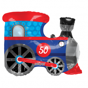 "Foilballoon shape  ,  28""  -  train shape"