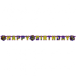 """Happy Birthday"" Die-cut Banner - Ninja Turtles"
