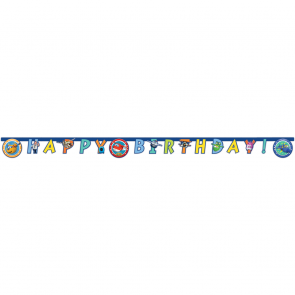 """Happy Birthday"" Die-Cut Banner - Super Wings"
