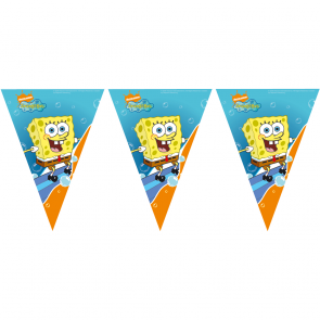1 Triangle Flag Banner - Spongebob