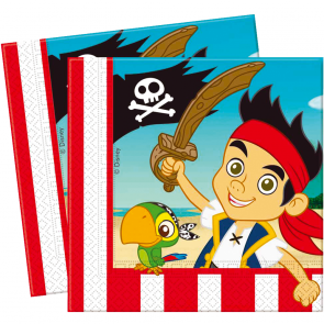 20 Two-ply Paper Napkins 33x33cm - Jake and the Neverland Pirates
