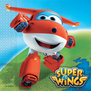 20 Two-ply Paper Napkins 33x33cm - Super Wings