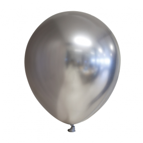 25 Chrome / Mirror balloons, 12'' - silver