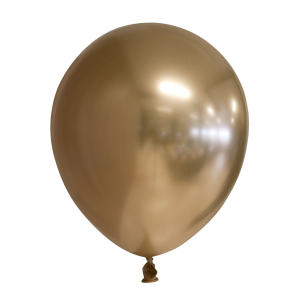 25 Chrome / Mirror balloons, 12'' - gold