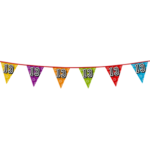 Bunting 'holographic' 8m '13' - size flags: 20x30cm
