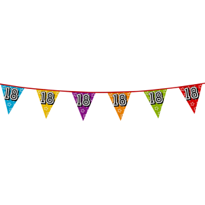 Bunting 'holographic' 8m '18' - size flags: 20x30cm