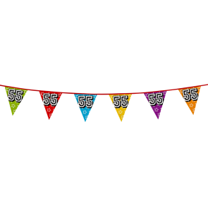 Bunting 'holographic' 8m '55' - size flags: 20x30cm