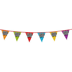 Bunting 'holographic' 8m '80' - size flags: 20x30cm