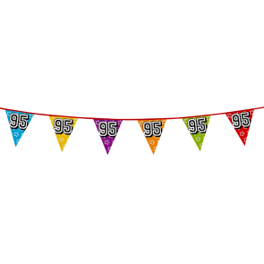 Bunting 'holographic' 8m '95' - size flags: 20x30cm
