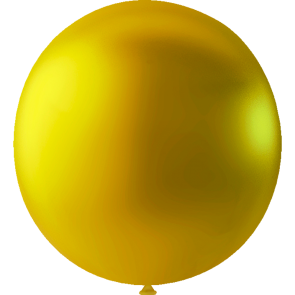 10 Mega balloons, 30'' - metallic gold