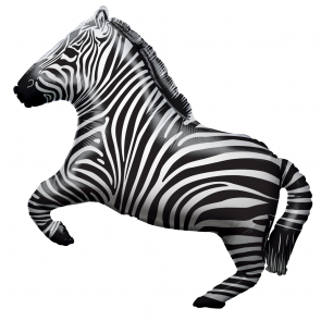 "Foilballoon shape  ,  28""  -  zebra shape"