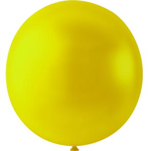 10 Mega balloons, 36'' - yellow (crystal)