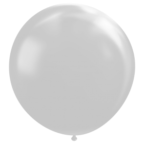 "1 Giant balloon 72"" metallic silver"