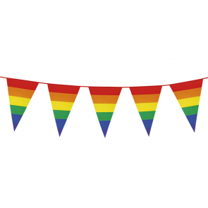 Giant Bunting PE 8m. rainbow - size flags: 30x45cm
