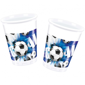 8 Plastic Cups 200ml - Football