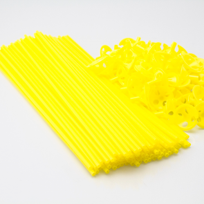 100 Balloon sticks , 40cm - yellow