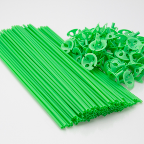 100 Balloon sticks , 40cm - green